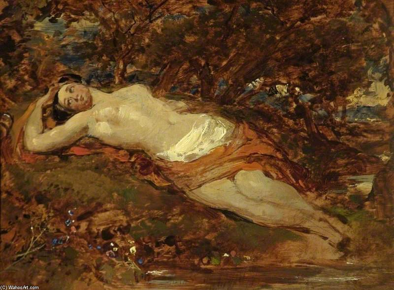 Study For `reclining Nude` by William Etty (1787-1849, United Kingdom) | Art Reproduction | ArtsDot.com