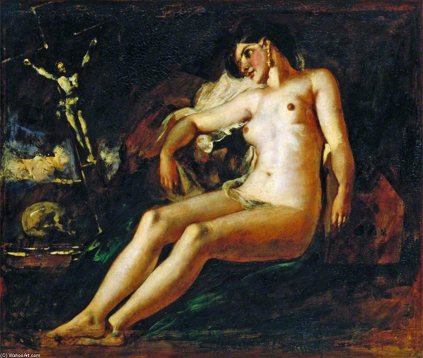 Study Of A Magdalen by William Etty (1787-1849, United Kingdom) | Museum Quality Reproductions | ArtsDot.com
