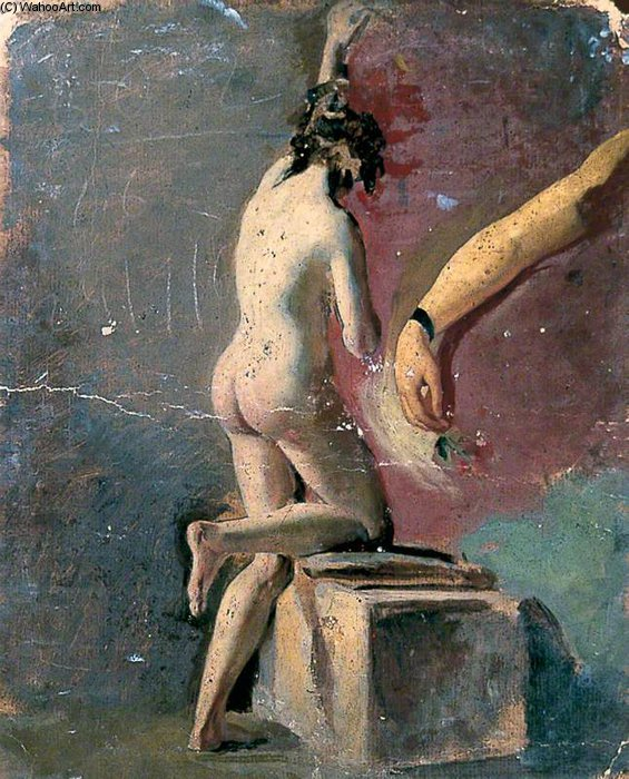 Study Of An Arm And Female Nude by William Etty (1787-1849, United Kingdom) | Museum Quality Reproductions | ArtsDot.com