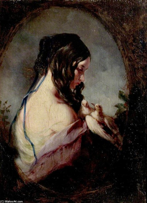 The Doves by William Etty (1787-1849, United Kingdom) | Museum Quality Reproductions | ArtsDot.com