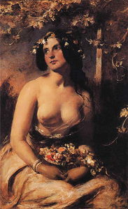 William Etty - The Flower Girl