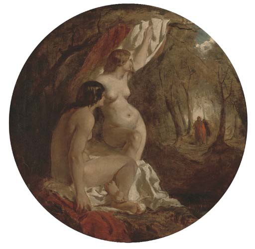 Two Female Nudes In A Wood by William Etty (1787-1849, United Kingdom) | Museum Art Reproductions | ArtsDot.com