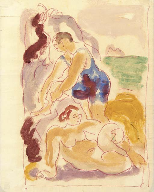 Bathers by Duncan Grant (1885-1978, Scotland)