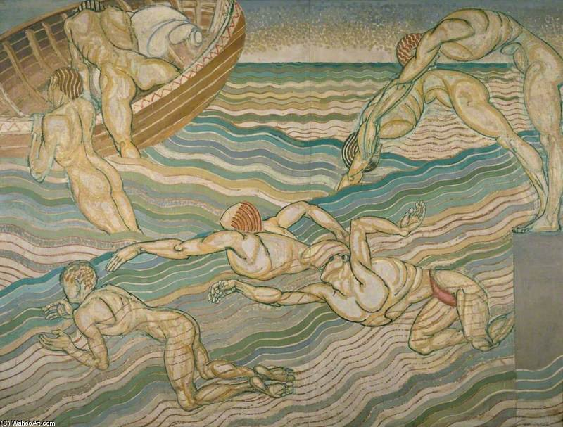 Bathing by Duncan Grant (1885-1978, Scotland) | Museum Quality Reproductions | ArtsDot.com