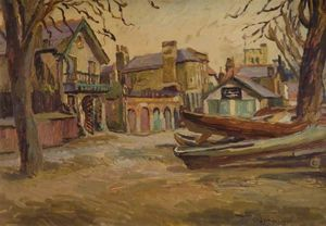Duncan Grant - Boats At Twickenham