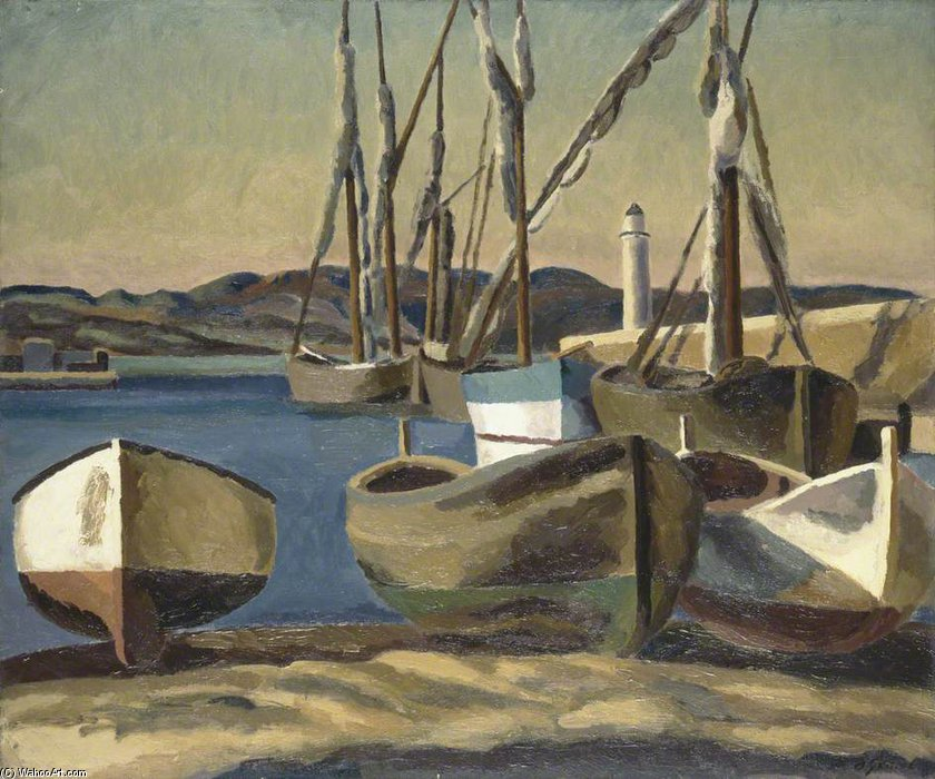 Boats, St Tropez by Duncan Grant (1885-1978, Scotland)