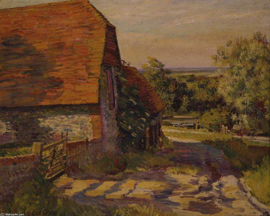 Charleston Barn by Duncan Grant (1885-1978, Scotland) | ArtsDot.com