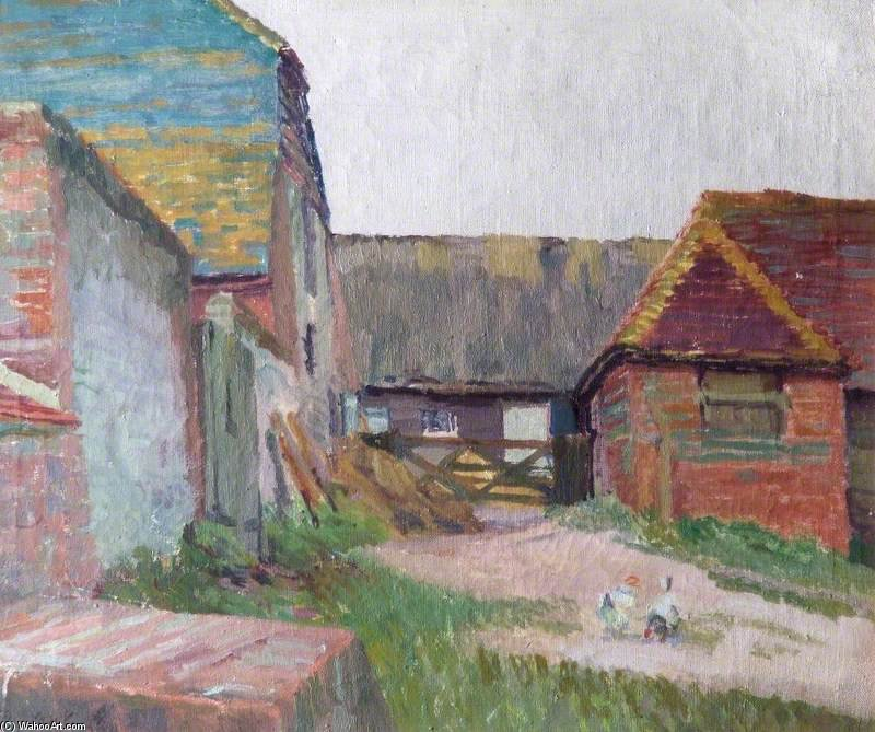Cow Stalls by Duncan Grant (1885-1978, Scotland)