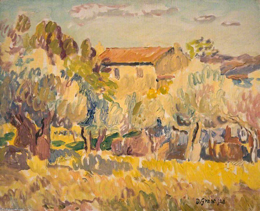 Farmhouse Among Trees by Duncan Grant (1885-1978, Scotland) | Museum Art Reproductions | ArtsDot.com
