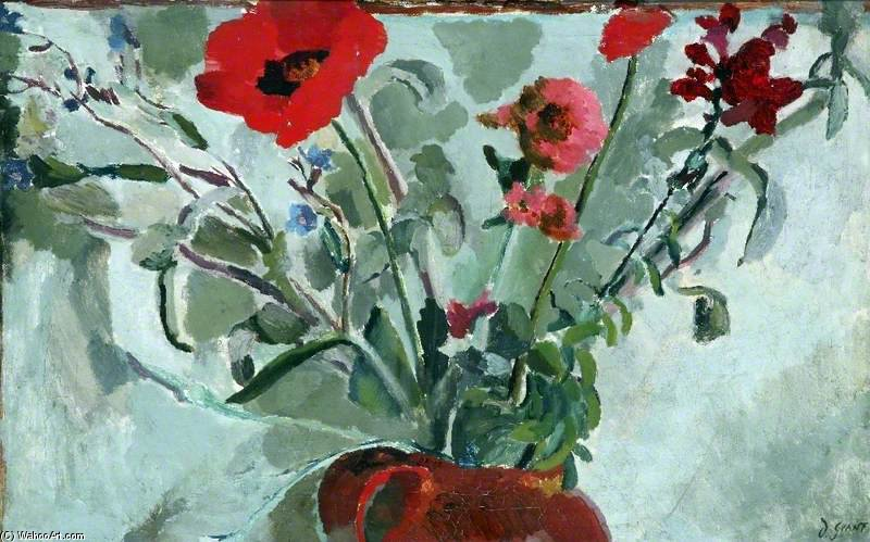 Flower Painting by Duncan Grant (1885-1978, Scotland)