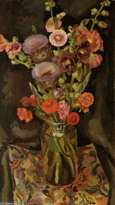 Flower Piece by Duncan Grant (1885-1978, Scotland)