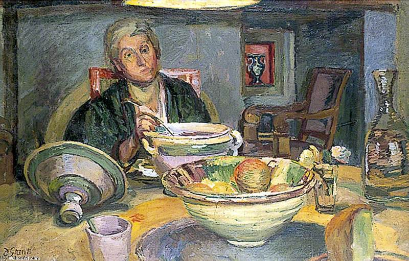 Helen Anrep In The Dining Room At Charleston, East Sussex by Duncan Grant (1885-1978, Scotland)