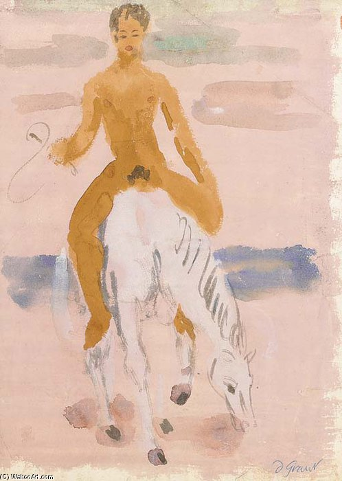 Horse And Rider by Duncan Grant (1885-1978, Scotland)