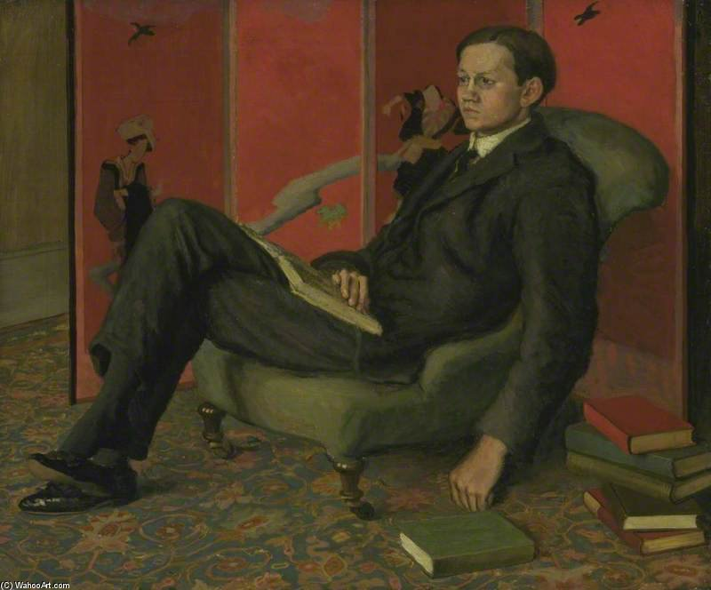 James Strachey by Duncan Grant (1885-1978, Scotland)