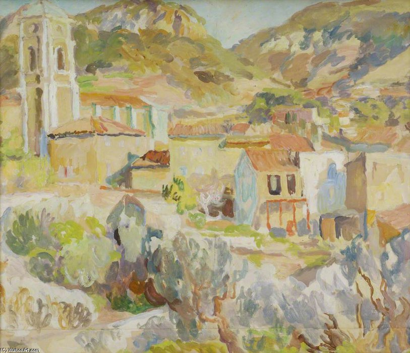 Landscape In Provence - Cassis by Duncan Grant (1885-1978, Scotland) | Art Reproduction | ArtsDot.com