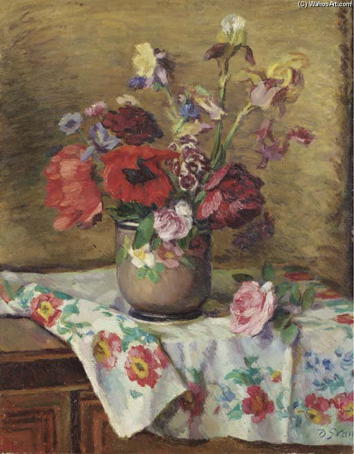 Poppies And Irises by Duncan Grant (1885-1978, Scotland)