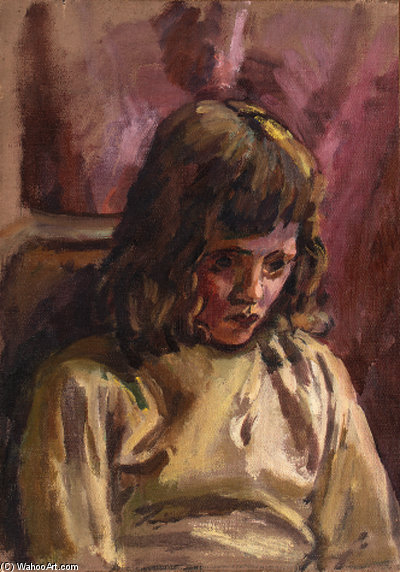Portrait Of A Girl - by Duncan Grant (1885-1978, Scotland)