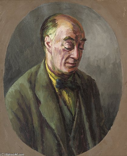 Portrait Of Desmond Mccarthy by Duncan Grant (1885-1978, Scotland) | Museum Quality Reproductions | ArtsDot.com