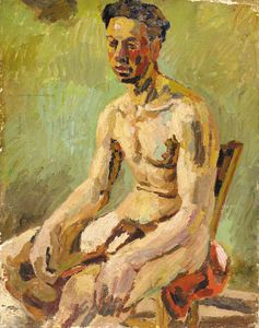 Duncan Grant - Seated Male Nude -