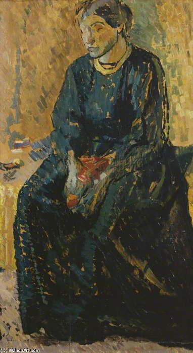 Seated Woman, Ka Cox by Duncan Grant (1885-1978, Scotland)