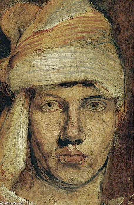 Self Portrait In A Turban by Duncan Grant (1885-1978, Scotland)