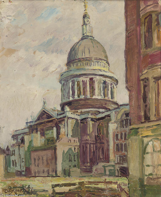 St. Paul's Cathedral by Duncan Grant (1885-1978, Scotland)