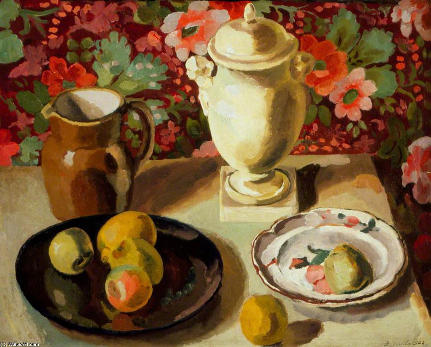 Still Life - by Duncan Grant (1885-1978, Scotland) | Painting Copy | ArtsDot.com