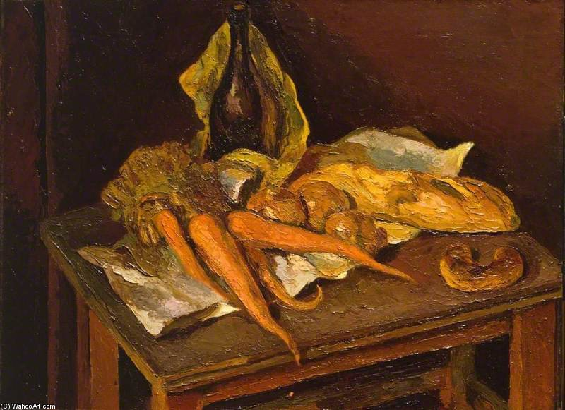 Still Life With Carrots by Duncan Grant (1885-1978, Scotland)