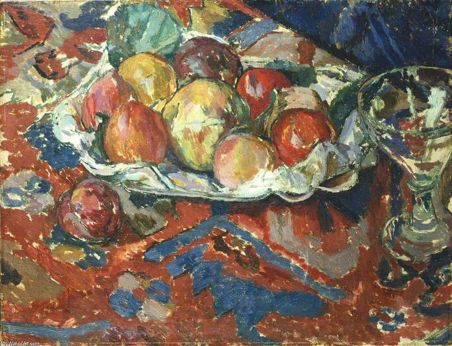 Still Life With Peaches by Duncan Grant (1885-1978, Scotland) | Painting Copy | ArtsDot.com