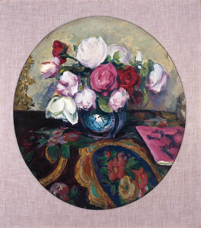 Still Life With Roses In A Vase by Duncan Grant (1885-1978, Scotland) | Art Reproduction | ArtsDot.com