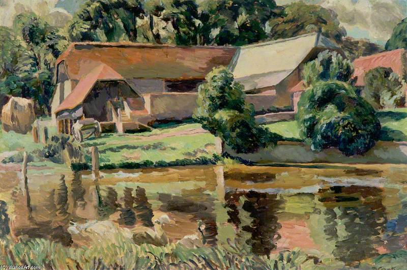 The Barn At The Pond by Duncan Grant (1885-1978, Scotland)