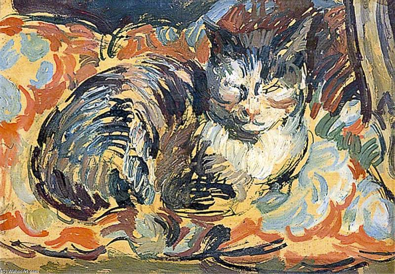 The Cat, Opussyquinusque by Duncan Grant (1885-1978, Scotland)