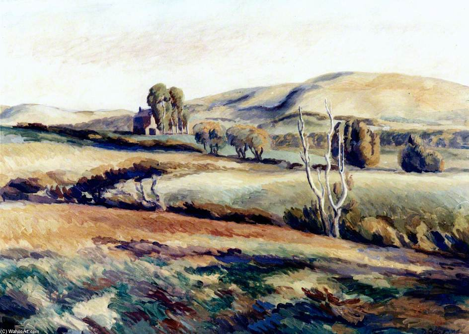 The Downs Near Wilmington by Duncan Grant (1885-1978, Scotland)
