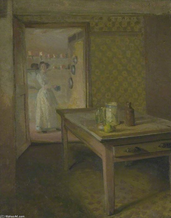 The Kitchen by Duncan Grant (1885-1978, Scotland)