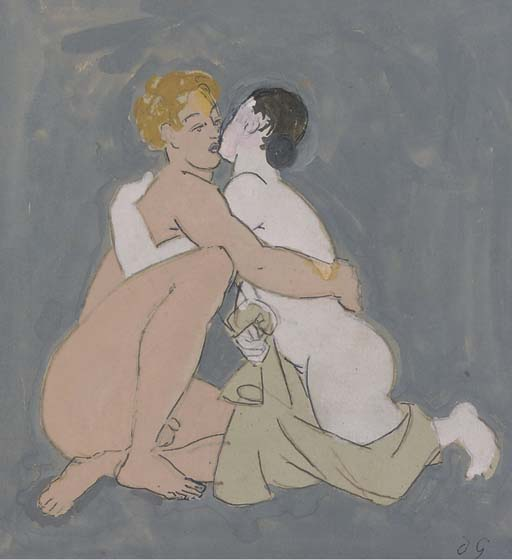 The Lovers - by Duncan Grant (1885-1978, Scotland) | Painting Copy | ArtsDot.com