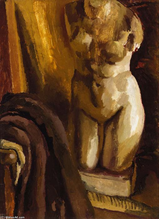 The Statue By The Sofa At Charleston by Duncan Grant (1885-1978, Scotland) | Museum Art Reproductions | ArtsDot.com