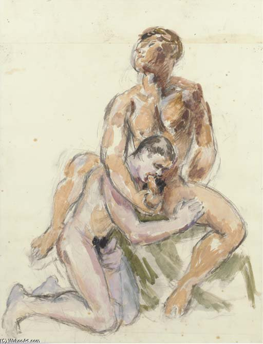 Two Male Lovers by Duncan Grant (1885-1978, Scotland)