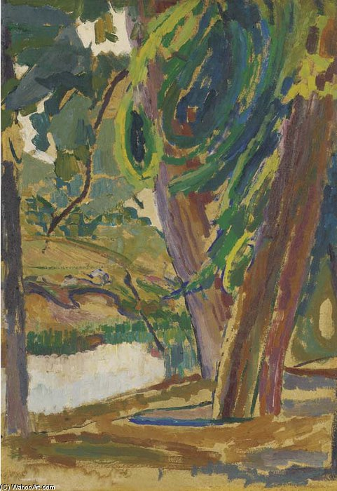 Woodland by Duncan Grant (1885-1978, Scotland)