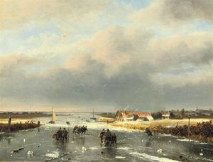 Nicolaas Johannes Roosenboom - A Day On The Ice