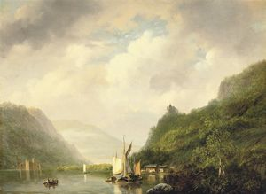 Nicolaas Johannes Roosenboom - On A Mountain Lake