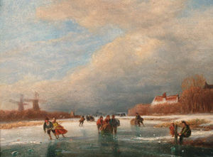 Nicolaas Johannes Roosenboom - Winter Leisure