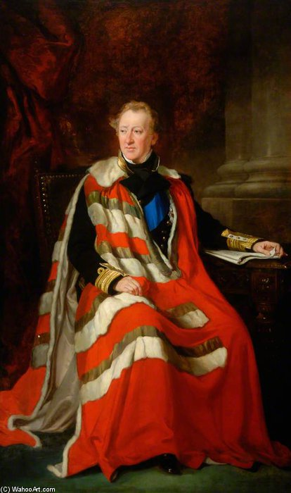 Algernon Percy, 4th Duke Of Northumberland by Francis Grant (1803-1878, United Kingdom) | Museum Art Reproductions Francis Grant | ArtsDot.com