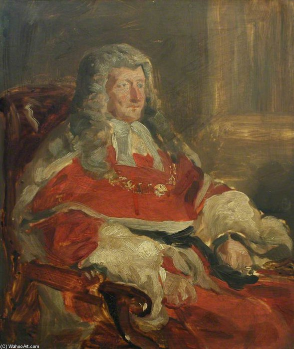 John Campbell, 1st Baron Campbell, Lord Chief Justice And Lord Chancellor by Francis Grant (1803-1878, United Kingdom) | Painting Copy | ArtsDot.com