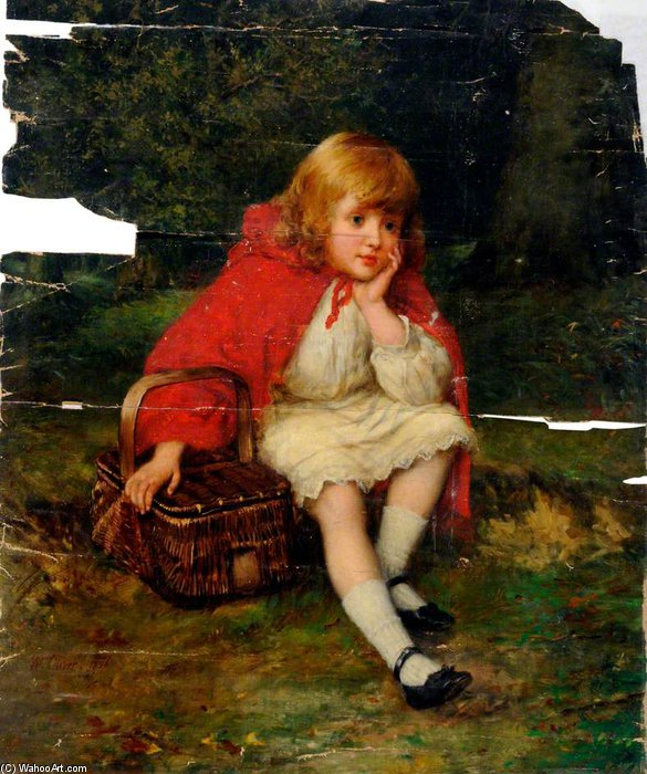 Red Riding Hood by William Oliver (1805-1853, United Kingdom)