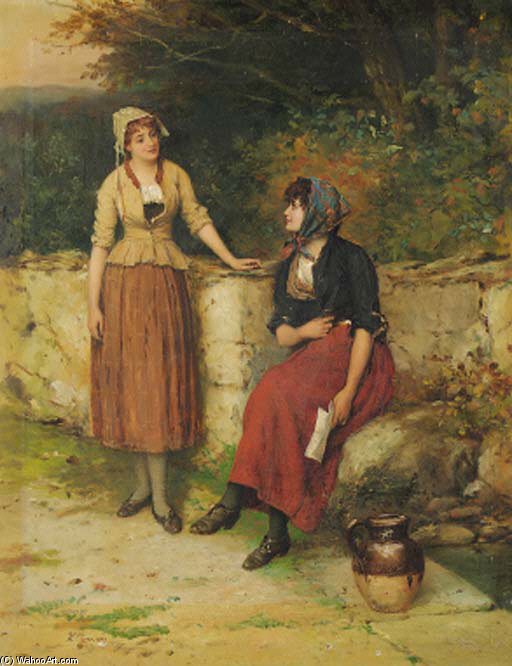 Sisterly Advice by William Oliver (1805-1853, United Kingdom)