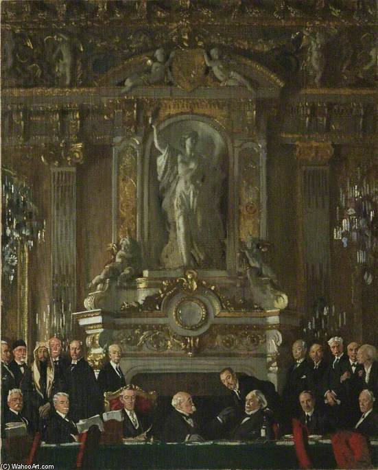 A Peace Conference At The Quai D`orsay by William Newenham Montague Orpen (1878-1931, Ireland) | Painting Copy | ArtsDot.com
