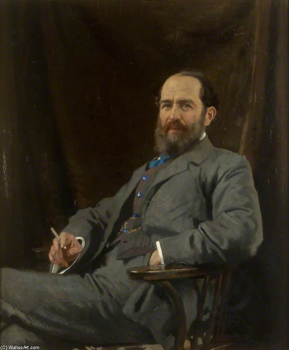 Arthur Schuster by William Newenham Montague Orpen (1878-1931, Ireland) | Museum Art Reproductions | ArtsDot.com