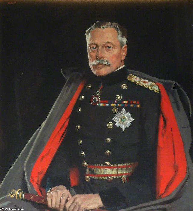 First Earl Haig, Field Marshal by William Newenham Montague Orpen (1878-1931, Ireland) | ArtsDot.com