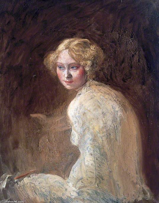 Head Of A Girl by William Newenham Montague Orpen (1878-1931, Ireland) | Museum Art Reproductions | ArtsDot.com