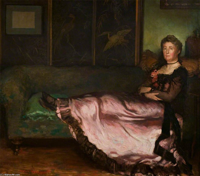 Lady On A Couch by William Newenham Montague Orpen (1878-1931, Ireland) | Museum Art Reproductions | ArtsDot.com
